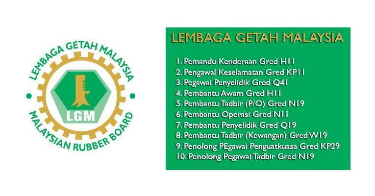 Jawatan Kosong di Lembaga Getah Malaysia LGM 2019