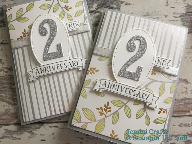 Anniversary cards for team members of Creative Jems