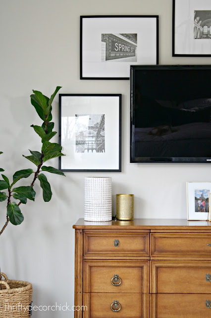 Decorating top of dresser