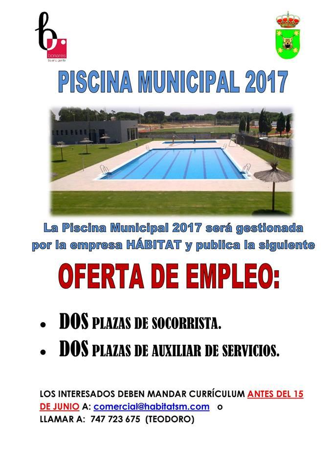 Deportes bonares oferta de empleo piscina municipal 2017 for Piscina municipal fuenlabrada 2017