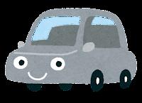 車のキャラクターのイラスト(グレー)