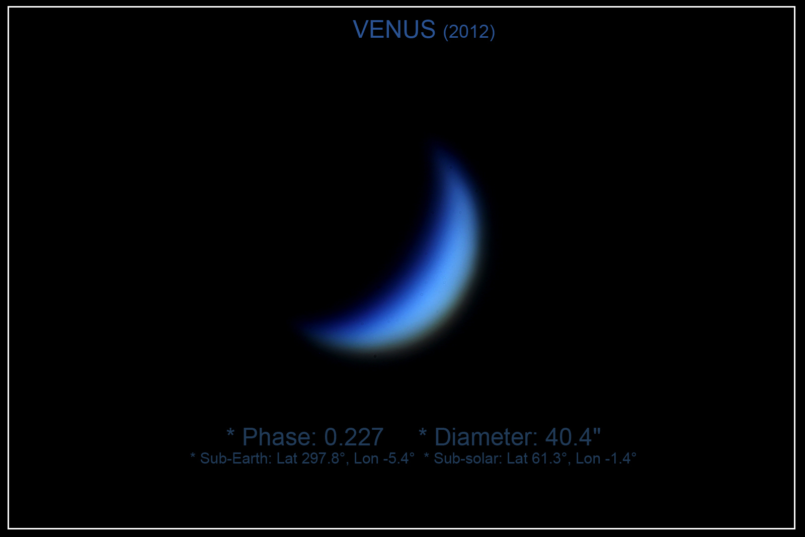 Links Through Space VENUS 2012 Its phases transit