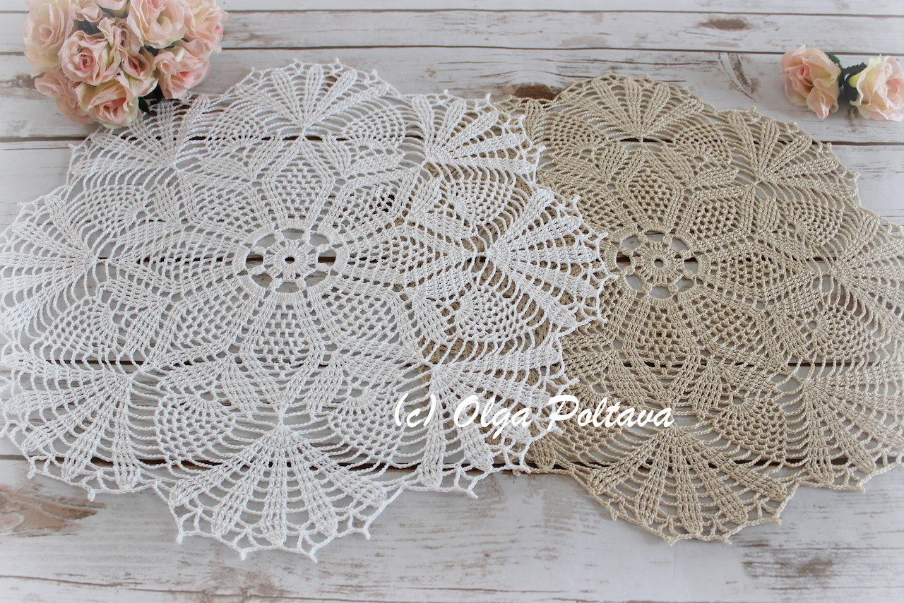 Lacy Crochet: Pineapple Bouquet Doily, New Crochet Pattern
