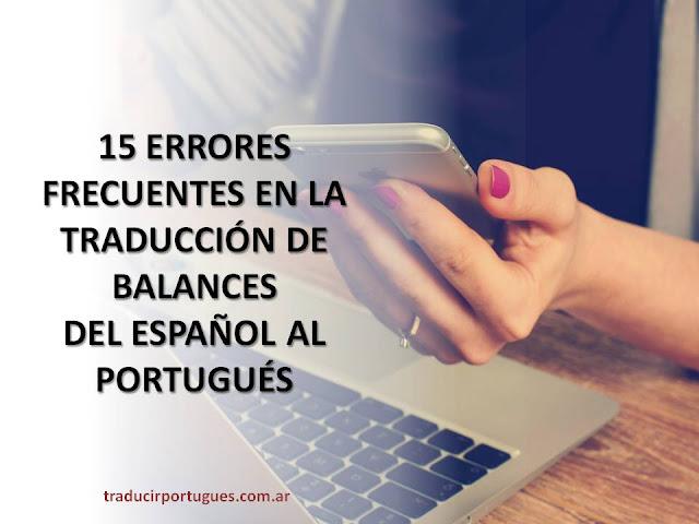 traductora, traductores, portugués, español, balances, demonstrações