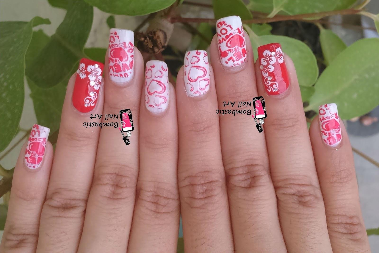 25 Amazing Valentine S Day Nail Art Ideas Bombastic Nail Art
