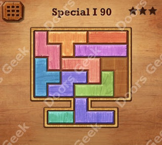 Cheats, Solutions, Walkthrough for Wood Block Puzzle Special I Level 90