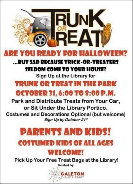10-31 Trunk or Treat, Galeton Library