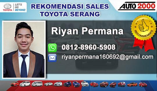 Rekomendasi Sales Toyota Serang Cilegon