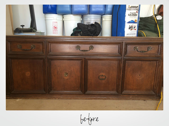 refinished buffet, refinished hutch, painted buffet, painted hutch, painted media console