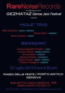 Rare Noise Night si svolgerà il 22 luglio al Porto Antico di Genova