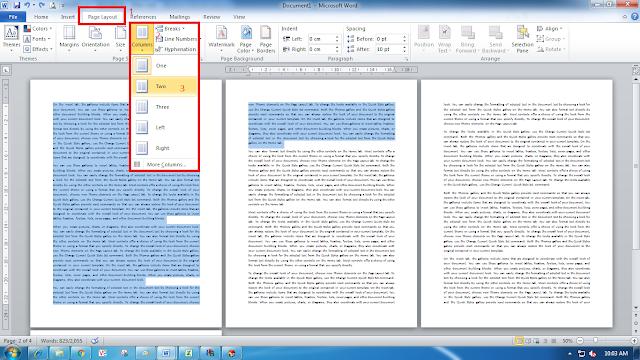 Cara Membuat Kolom di Ms Office Word