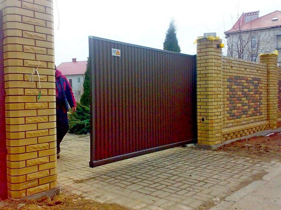 Откатные ворота инструкция