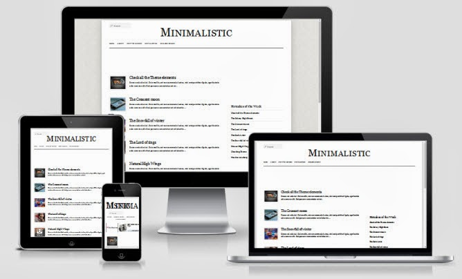 Minimalistic Responsive Blogger Template