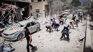 Lebih dari 12 orang telah syahid akibat bom yang dilepaskan oleh tentera rejim di Maarat Masreen di Idlib.