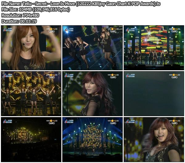 Download [Perf] Secret – Love Is Move @ KBSjoy Gaon Chart K-POP