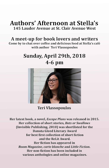 Authors' Afternoon with Teri Vlassopoulos