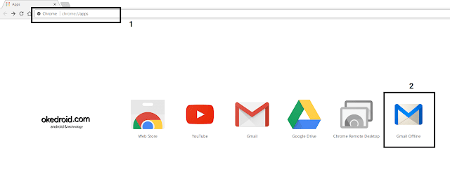 Gmail Offline Chrome Apps