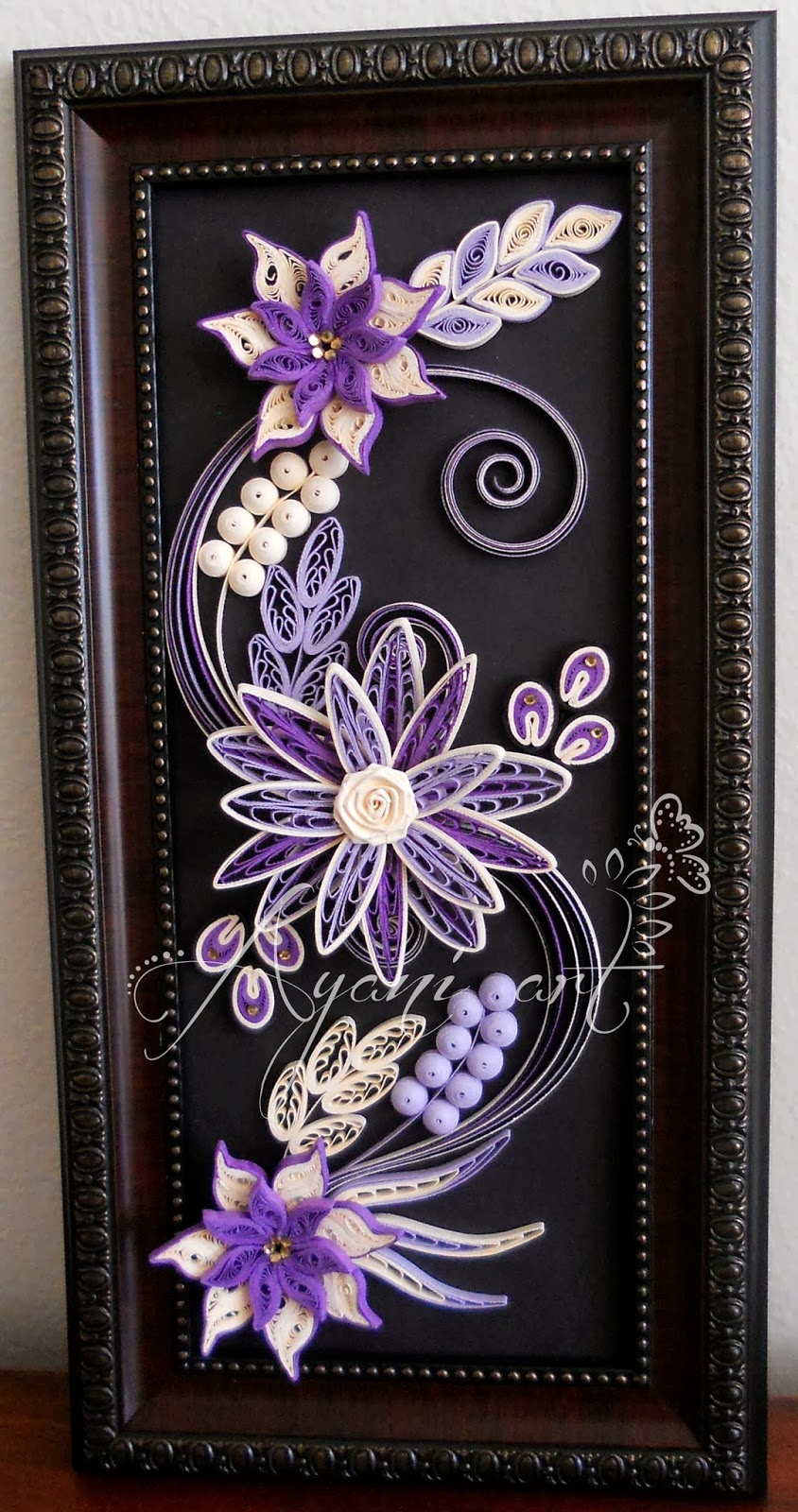 Ayani Art Purple Quilling Frame