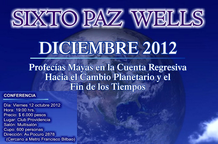 Conferencias de Sixto Paz Wells en Chile.