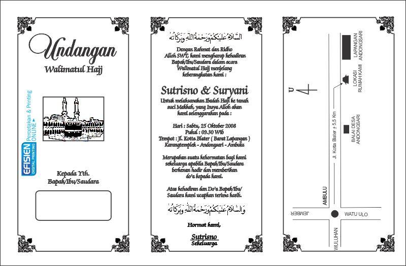 Format Undangannya Kepada Tetangga Format Surat Undangan Ibadah Haji