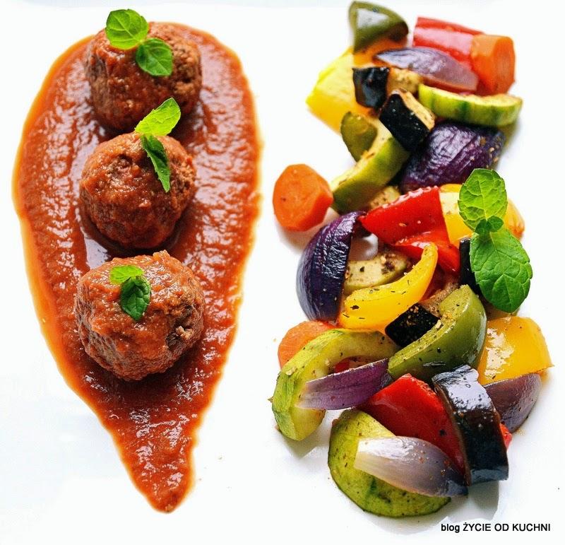 pulpety z warzywami, warzywa pieczone,