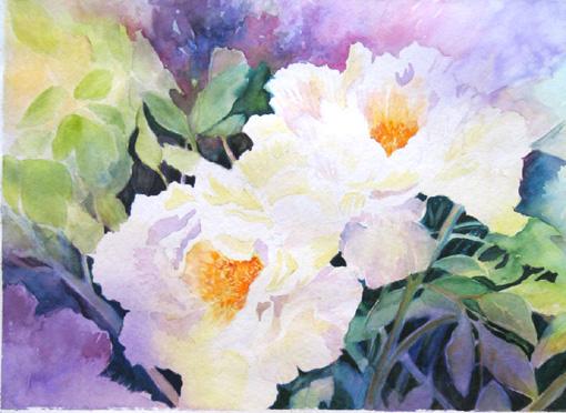 Rita vaselli watercolors dipingere fiori ad acquarello for Immagini da dipingere su vetro