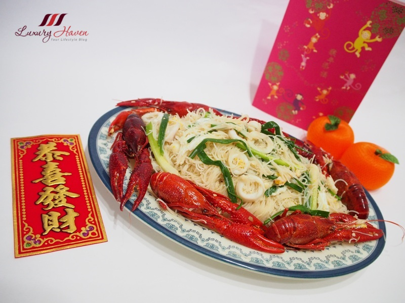 chinese new year crawfish white bee hoon recipe