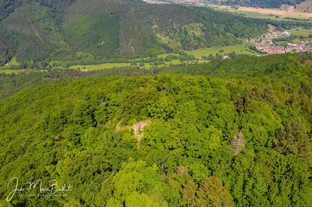 Hahneck — vue aérienne, front sud