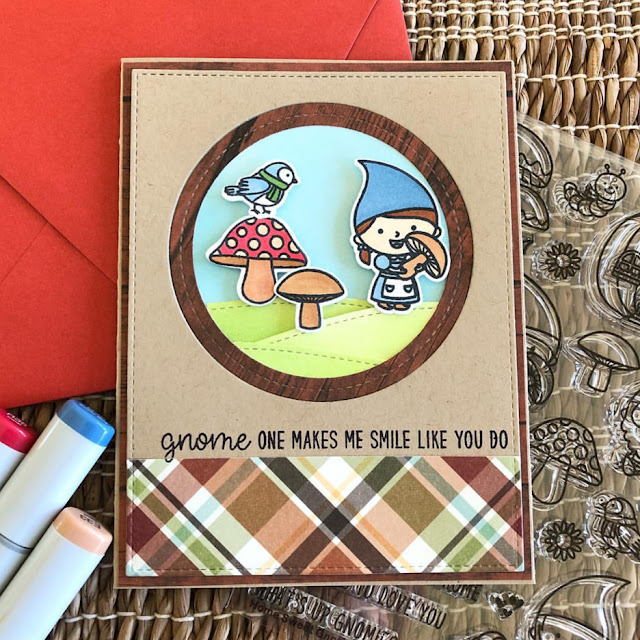 Sunny Studio Stamps: Home Sweet Gnome Autumn Themed Customer Card by Dana Kirby