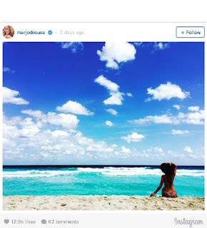 Marjorie de sousa en las playas