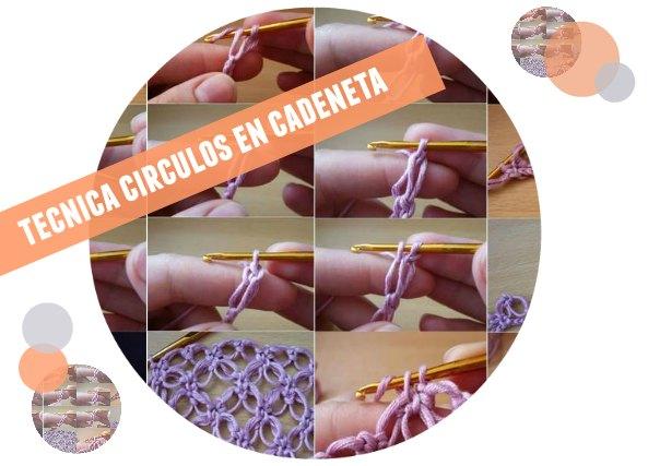 punto en círculos, punto salomón, crochet, patrones