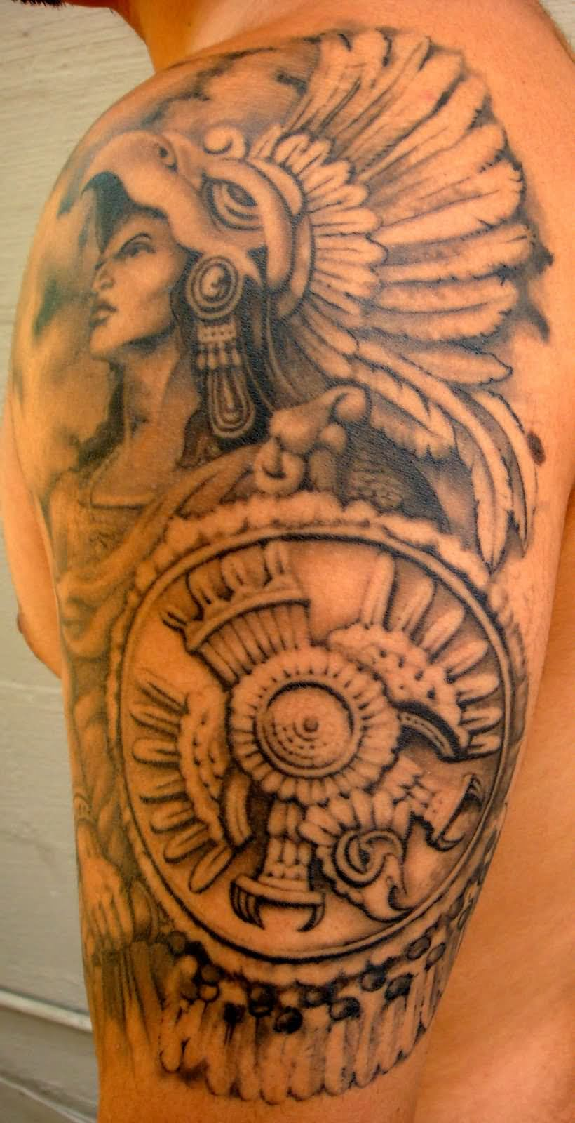 Aztec Style Tattoos