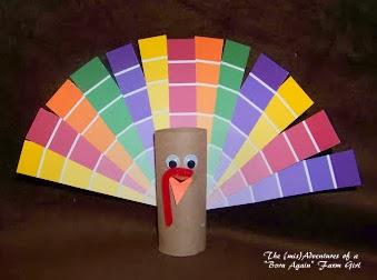 tp roll paint chip turkey craft