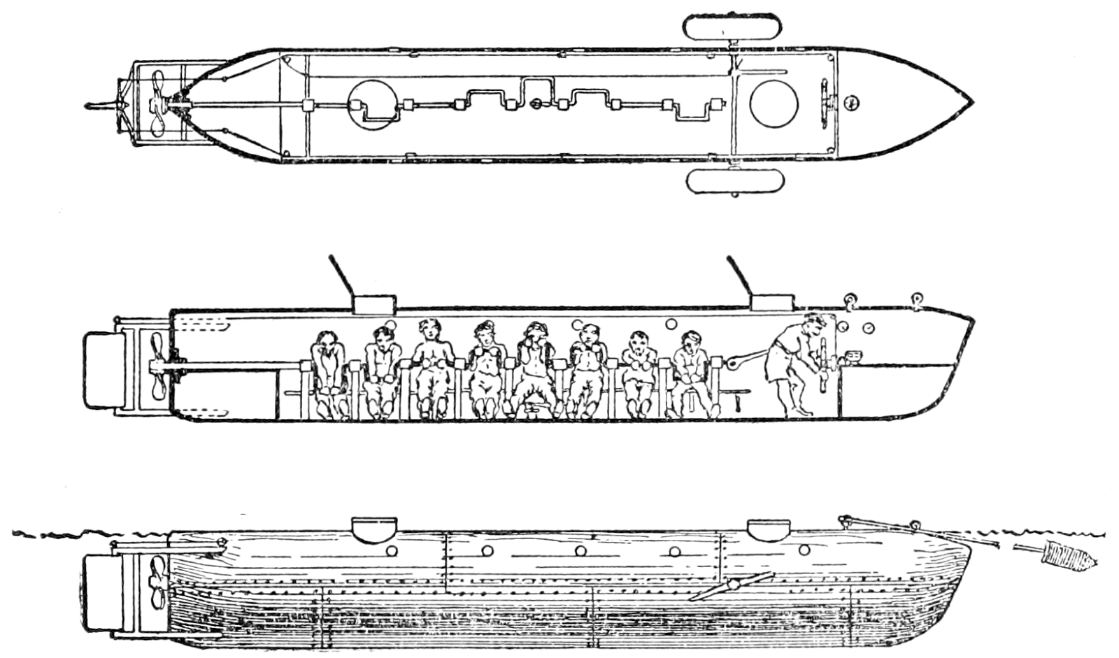 Parts Of A Submarine Diagram 1950 Farmall Super Wiring The First Attack  150 Years Ago Today