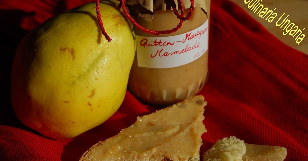 culinaria ungaria quitten marzipan marmelade mit calvados. Black Bedroom Furniture Sets. Home Design Ideas