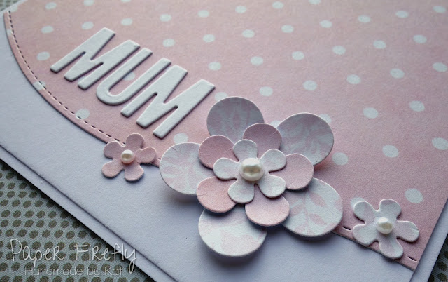 CAS pink floral card for Mum