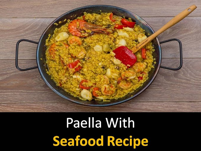 Paella with seafood recipe