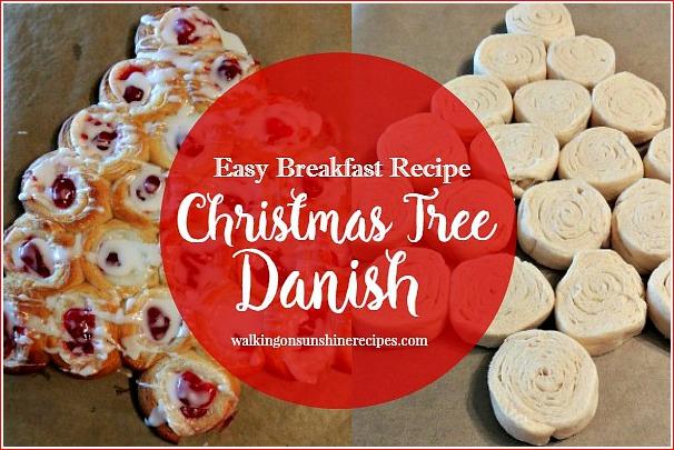 Christmas Tree Cream Cheese Danish EASY RECIPE