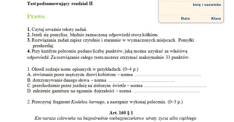 wos prawo sprawdzian pdf