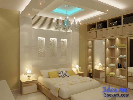 Merveilleux False Ceiling Designs 2018, New False Ceiling Design For Bedroom, Bedroom  Ceiling LED Lights