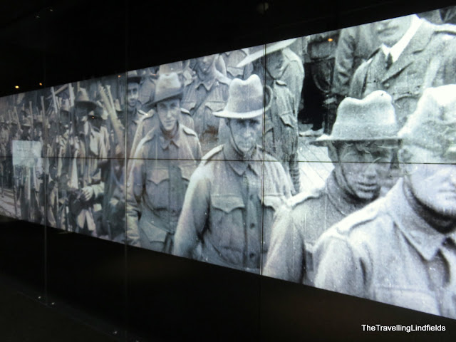 ANZACs marching at the National ANZAC Centre