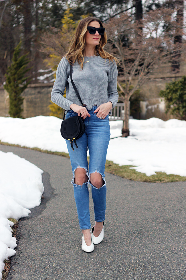 Scoop Back Sweater #springstyle