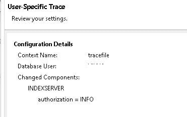 How to apply Authorization Trace in SAP HANA