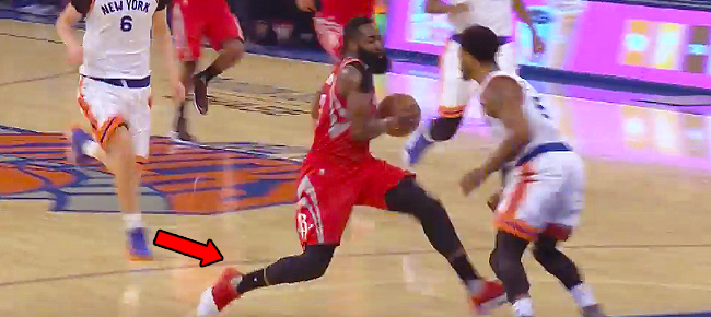 James Harden with the NASTY Euro-step On Derrick Rose (VIDEO)