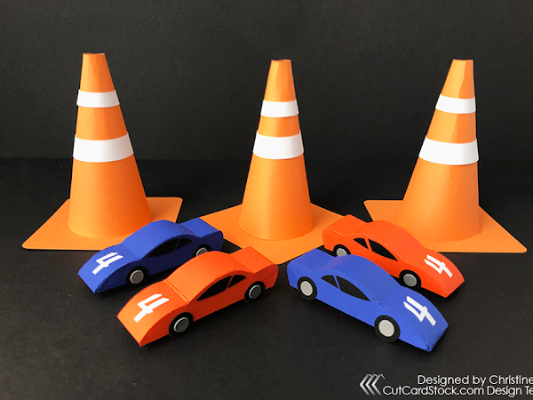 3D Paper Racecars