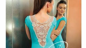 Aplique de encaje para la espalda del vestido
