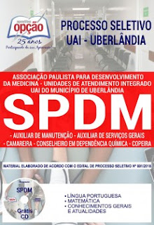 Baixar Apostila Concurso SPDM Uberlândia 2019 PDF