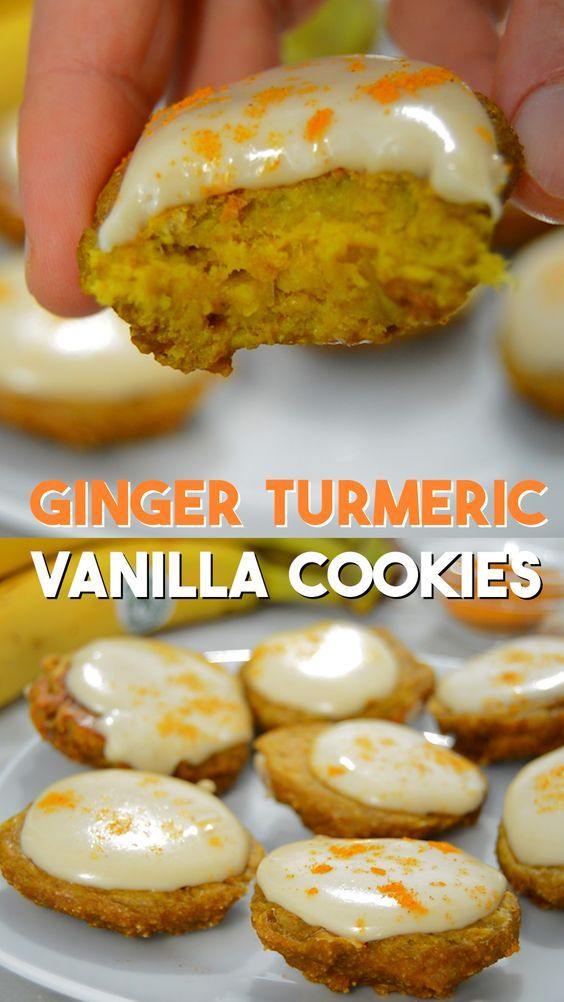 Ginger Turmeric Cashew Vanilla Cookies - Vegan and low sugar plant-based recipe #vegan #whole30 #plantbased #veganrecipe #healthy