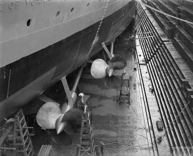 Royal Navy battleship HMS Duke of York on 12 October 1941 worldwartwo.filminspector.com