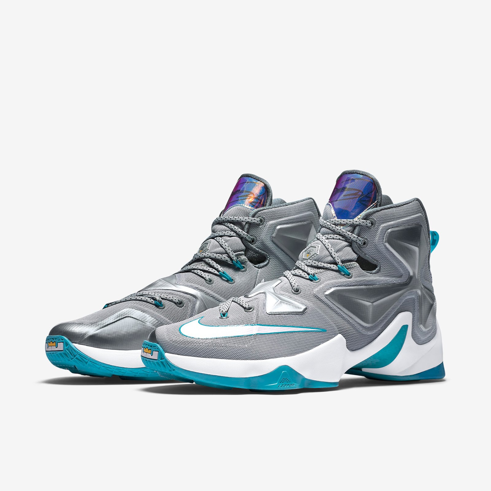 cheap for discount ac502 0911a Nike LeBron 13 Wolf Grey White-Blue Lagoon-Dark Grey Release Reminder